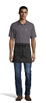 BLACK REVERSIBLE WAIST APRON - 3 POCKETS