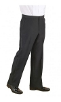 NEIL ALLYN POLYESTER SLIM FIT MEN'S BLACK TUXEDO PANTS - FLAT FRONT
