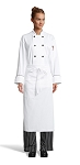 WHITE FULL BISTRO APRON - 1 POCKET