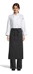 BLACK BISTRO APRON - 2 POCKETS