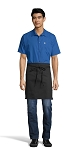 BLACK HALF WAIST APRON - 2 POCKETS