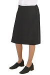 Women's Comfort Poly Below The Knee Tuxedo Skirt #3099S
