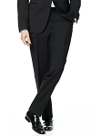 NEIL ALLYN WOOL ADJUSTABLE SLIM FIT MEN'S BLACK FORMAL PANTS - NO SATIN