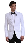 White Tuxedo Jacket & Pants Sets