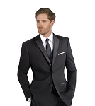 MANTONI NOTCH MEN'S BLACK TUXEDO
