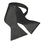 Premium Satin Black Tie to Tie Self Bow #4100TT-01