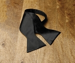 NEIL ALLYN BLACK PREMIUM SATIN TIE TO TIE SELF BOW TIE