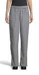 WOMEN'S HOUNDSTOOTH CHEF PANTS