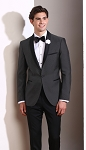 SLIM FIT SHAWL BLACK PINDOT TUXEDO JACKET