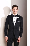 SLIM FIT TRIMMED PEAK BLACK VELVET TUXEDO JACKET
