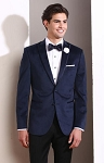 COUTURE 1910 NAVY VELVET PEAK TUXEDO JACKET - MEN'S