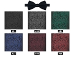 COUTURE 1910 CHASE PAISLEY PRE-TIED BOW TIE - ASSORTED COLORS
