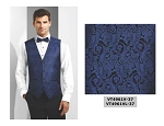 COUTURE 1910 CHASE PAISLEY FULL BACK VEST - MEN'S BLUE