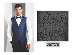 COUTURE 1910 CHASE PAISLEY FULL BACK VEST - MEN'S CHARCOAL