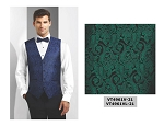COUTURE 1910 CHASE PAISLEY FULL BACK VEST - MEN'S GREEN