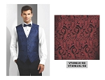 COUTURE 1910 CHASE PAISLEY FULL BACK VEST - MEN'S RED