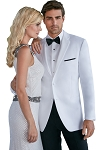 SLIM FIT NOTCH MEN'S WHITE TUXEDO JACKET