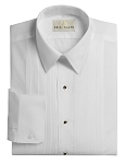 NEIL ALLYN PIN TUCK WHITE LAYDOWN MEN'S TUXEDO SHIRT
