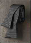 IKE BEHAR BLACK METALLIC SILK TIE TO TIE BOW - CLOSEOUT