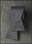 IKE BEHAR BLACK FANCY X AND O SILK TIE TO TIE BOW  - CLOSEOUT