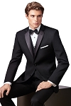 SLIM FIT 2 BUTTON WOOL NOTCH MEN'S BLACK TUXEDO JACKET