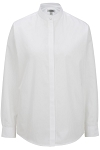 EDWARDS BANDED COLLAR WOMEN'S WHITE DRESS SHIRT