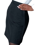 MINA POLYESTER WOMEN'S BLACK TUXEDO SKIRT - MINI CLOSEOUT
