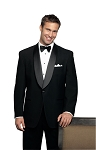 NEIL ALLYN WOOL SHAWL MEN'S BLACK TUXEDO JACKET - CLOSEOUT