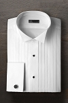 IKE BEHAR COTTON PLEATED WINGTIP MEN'S TUXEDO SHIRT