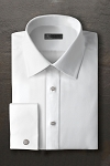 IKE BEHAR COTTON FAILLE LAYDOWN MEN'S TUXEDO SHIRT