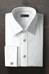 IKE BEHAR COTTON DIAMOND PIQUE LAYDOWN MEN'S TUXEDO SHIRT