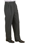 NEIL ALLYN MEN'S HICKORY STRIPE FORMAL TROUSERS - PLEATED