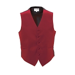"""LUXURY SATINS"" MEN'S RED TUXEDO VEST"