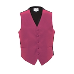 """LUXURY SATINS"" MEN'S HOT PINK TUXEDO VEST"