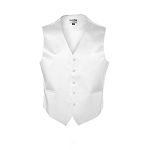 """LUXURY SATINS"" MEN'S WHITE TUXEDO VEST"