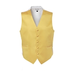 """LUXURY SATINS"" MEN'S CANARY YELLOW TUXEDO VEST"