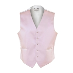 """LUXURY SATINS"" MEN'S LIGHT PINK TUXEDO VEST"