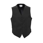 """LUXURY SATINS"" MEN'S BLACK TUXEDO VEST"