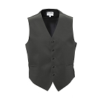 """LUXURY SATINS"" MEN'S CHARCOAL TUXEDO VEST"