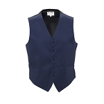 """LUXURY SATINS"" MEN'S NAVY BLUE TUXEDO VEST"