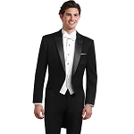 Neil Allyn Versa Wool Men's Black Tailcoat Package #TAILS2