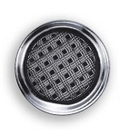SILVER TONE ROUND WAFFLE CUT BUTTON COVER