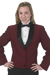 """DURAWEAR"" WOMEN'S BURGUNDY ETON JACKET"