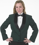 SEGAL HUNTER GREEN 3 BUTTON ETON JACKET - WOMEN'S