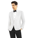 SLIM FIT SHAWL MEN'S DIAMOND WHITE TUXEDO JACKET