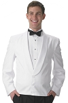 SEGAL WHITE 3 BUTTON ETON JACKET w/ SELF LAPEL - MEN'S