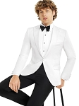 SLIM FIT PEAK MEN'S DIAMOND WHITE TUXEDO JACKET
