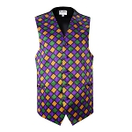 Men's Mardi Gras Window Pane Vest #VT760V-110