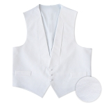 WHITE DELUXE PIQUE FULL BACK VEST