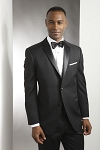 NEIL ALLYN WOOL 2 BUTTON NOTCH MEN'S BLACK TUXEDO